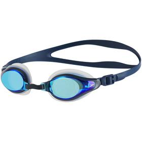 speedo Mariner Supreme Mirror Goggles, clear/navy/blue mirror